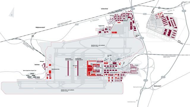 Flughäfen Deutschland Karte.Karte Und Plan Von Flughäfen Und Terminals Von Berlin