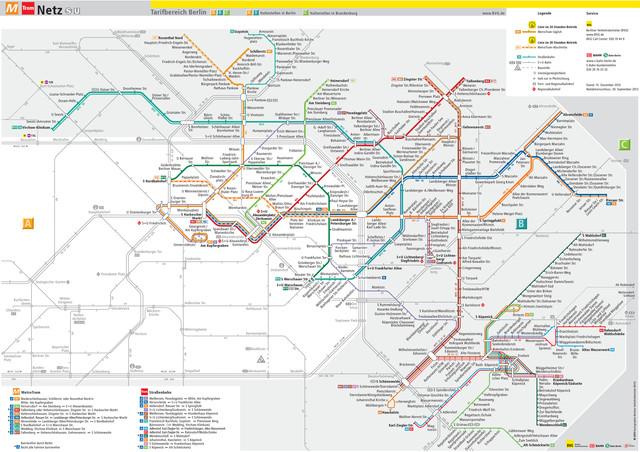 U Bahn Karte New York.Straßenbahn Netzplan Und Karte Von Berlin Stationen Und Linien